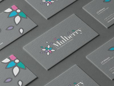 Mulberrry illustration minimal businesscard flower nursery branding logo
