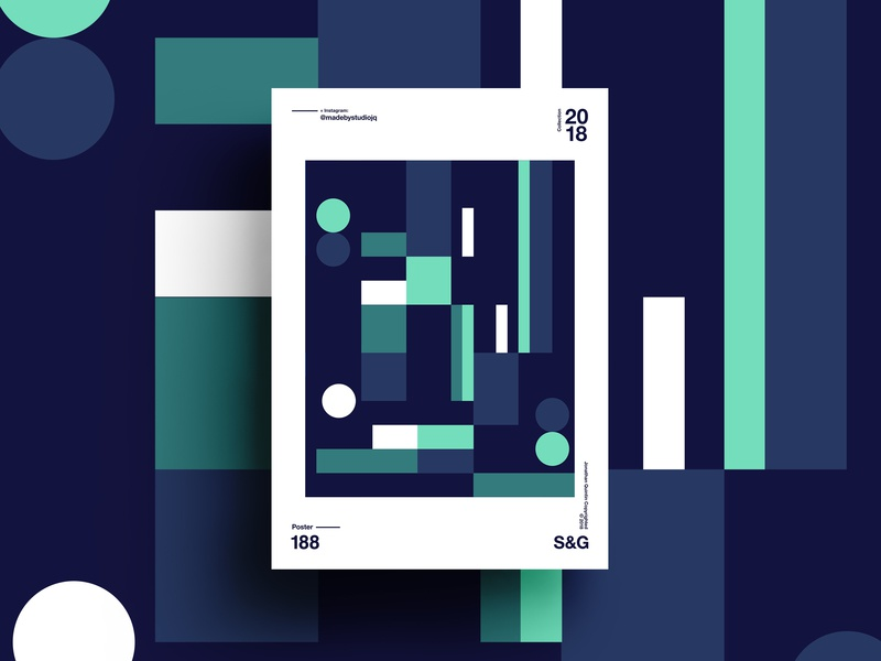 –Envy swiss layout pattern illustration poster design