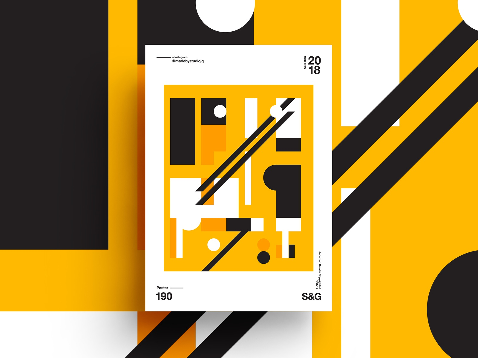 –YellowBrickRoad design poster art swiss yellow poster