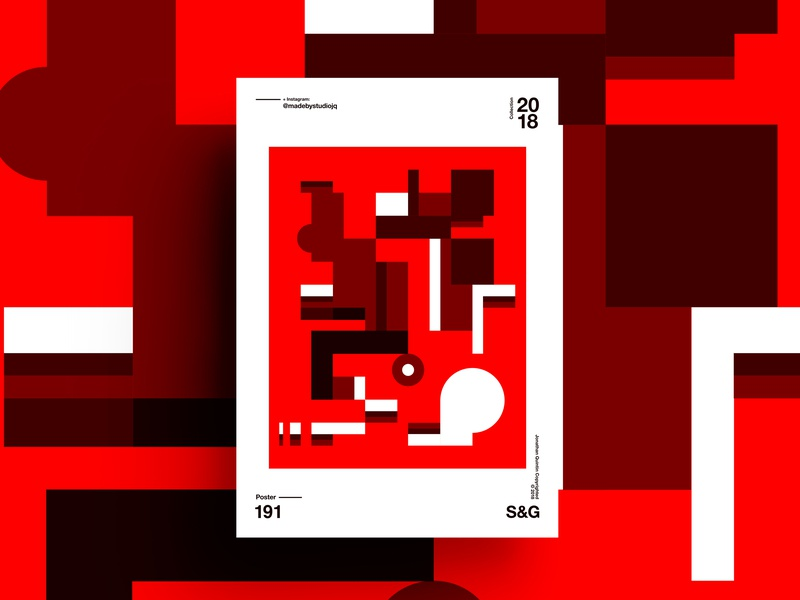 –RedCherry red form pattern swiss illustration poster design branding