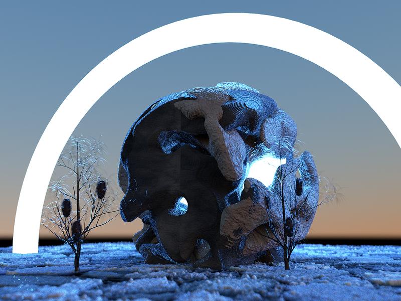 Moonlight Shadow surrealism octanerender cinema4d c4d art surreal octane
