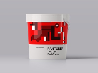–RedCherry red color packaging paint form pattern pantone