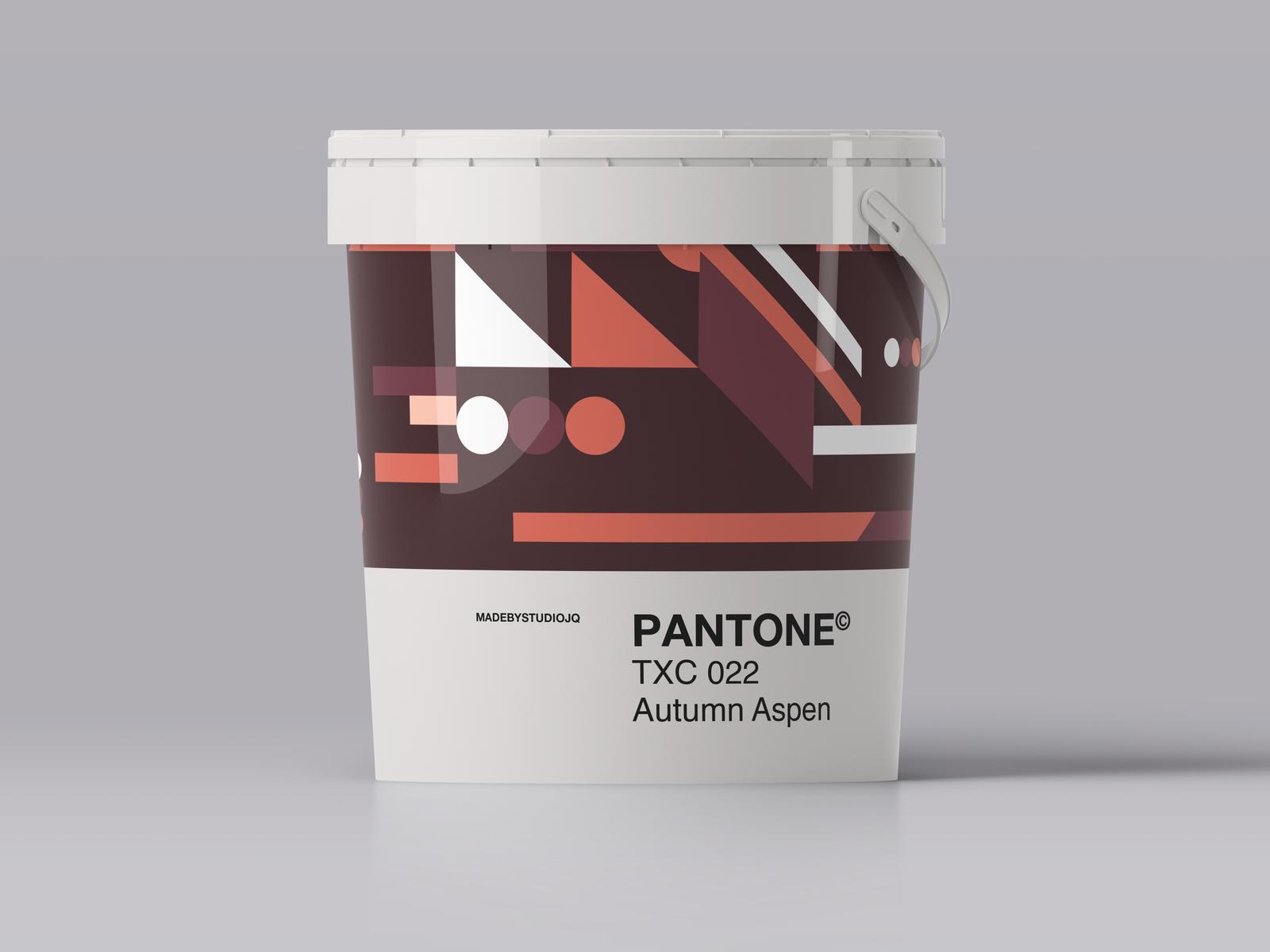 Pantone paint autumnaspen 4x