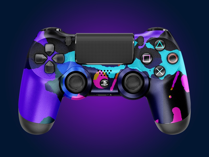 –Mix It Up | PS4 Controller sony gamer vibrant concept pattern color ps4controller ps4