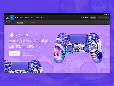 Sweet | PS4 sony web landingpage ux ui dualshock playstation 4 playstation ps4