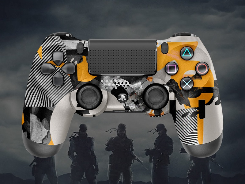 Metal Gear Solid | PS4 Controller by MadeByStudioJQ on Dribbble