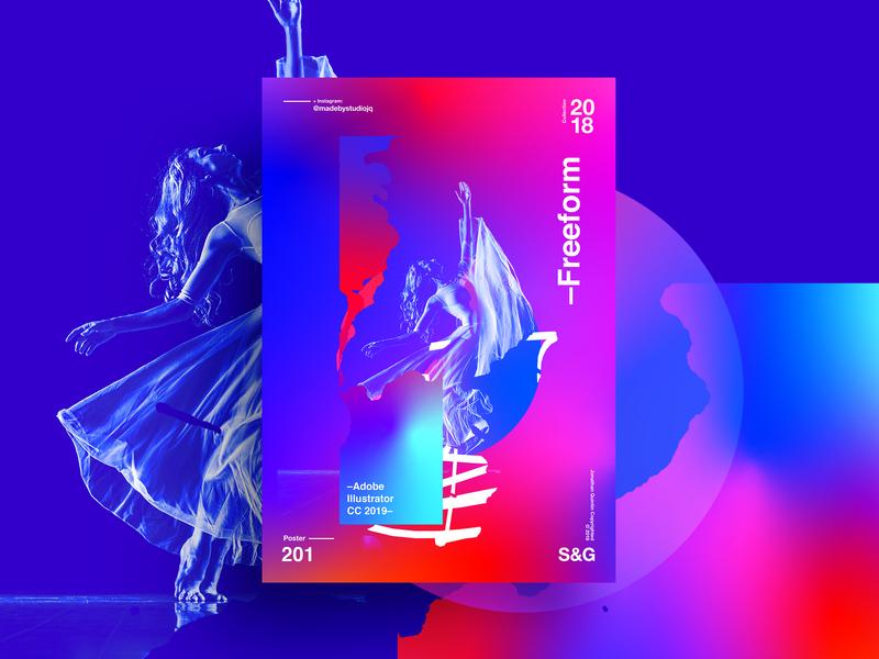 –Freeform illustrator gradient freeform cc19 illustrator2019 texture poster type typography illustration