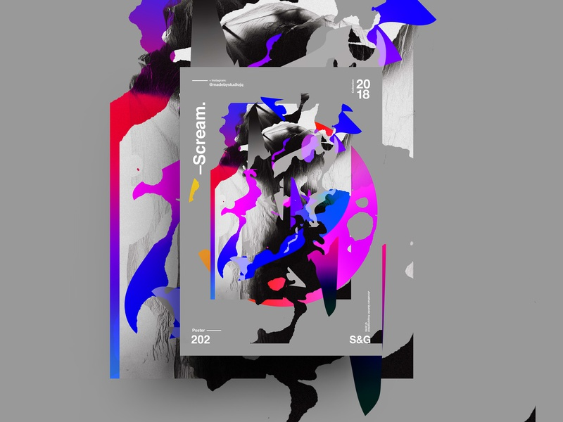 –Scream photoshop texture illustration poster typography branding
