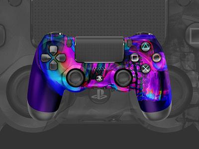 SkullFace | PS4 Controller art abstract art abstract controller skin sony playstation4 playstation ps4