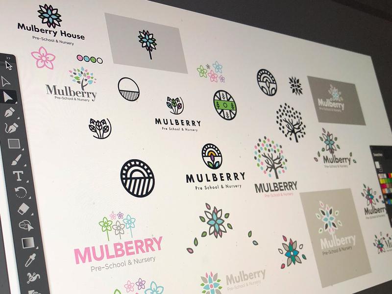 Branding color illustartor ideas nursery branding logo