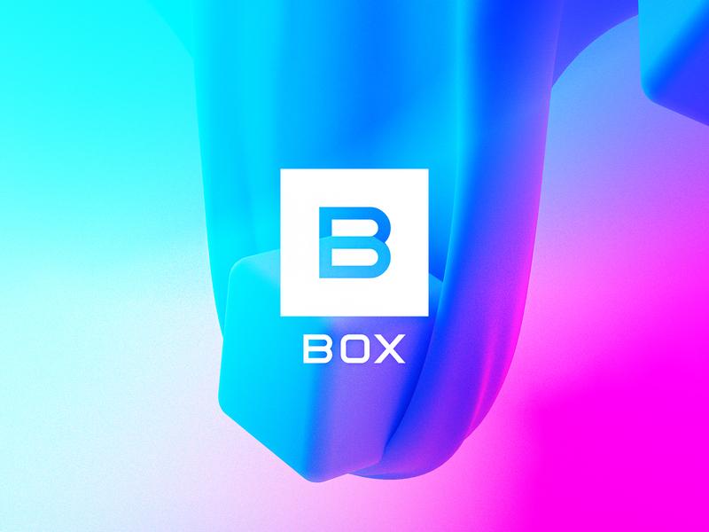 BOX logodesigner octane cinema4d shape pattern gradient logomark logo typography branding color