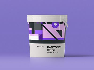 –Autumn Mist pantone color form shape branding design palette