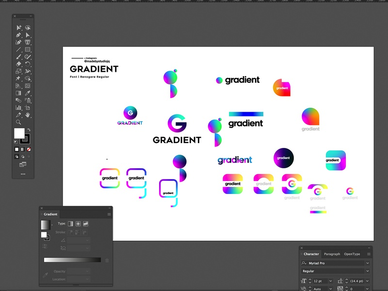 LOGOTen | Gradient adobe cc2019 illustrator logo design typography type color branding vector icon illustration gradient