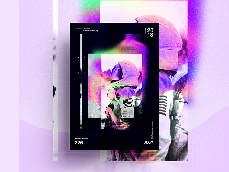 –Beyond Space scifi photoshop astronaut space nasa design poster color freelance illustrator history gradient posteraday