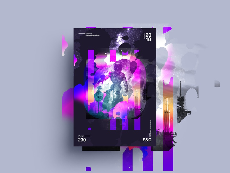The Fall. octane cinema 4d typography type poster illustration swiss texture vector color gradient art