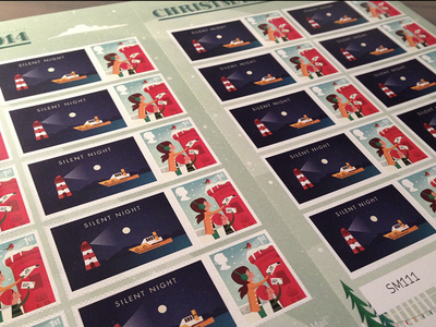 Silent Night   Christmas Stamps art design type illustration art illustator stamps xmas illustration christmas