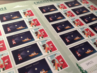 Silent Night | Christmas Stamps