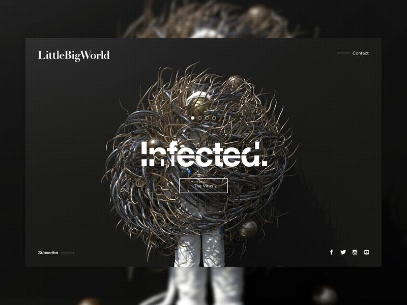INFECTED | The Virus. landingpage web ui cinema4d c4d octane octanerender octane render art scifi fantasy surreal abstract mp4 hologram space astronaut