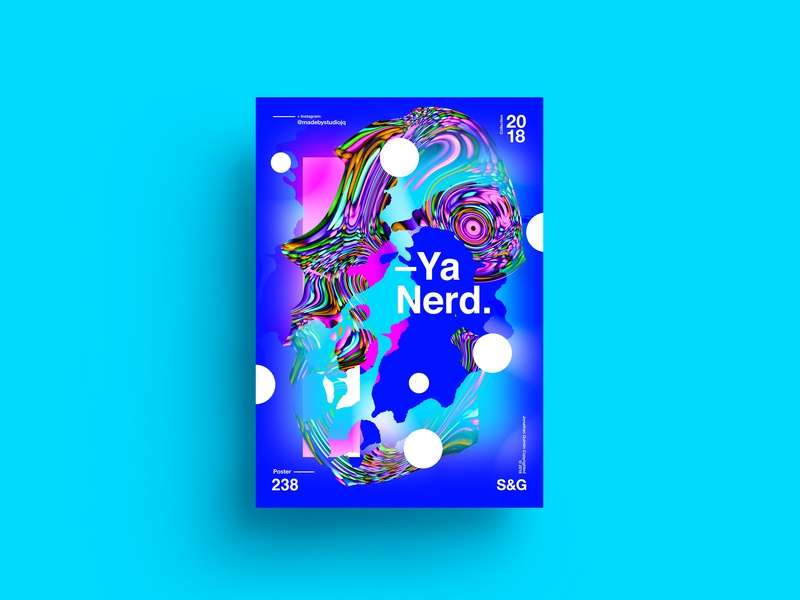 —Ya Nerd! sweets nerds octane typography type poster illustration swiss texture vector color art retro posterdesign collage