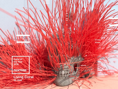 Pantone Color of the Year 2019   Living Coral octane skull type web animation website x-particles cinema4d coy2019 livingcoral pantone design motion