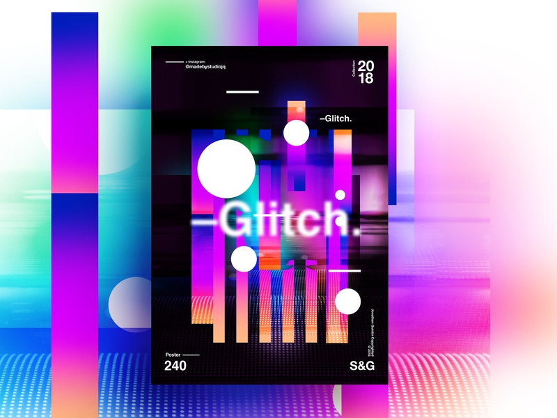 —Glitch. glitch typography type poster illustration swiss texture vector color art retro posterdesign collage gradient