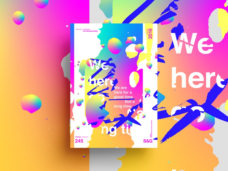 –A Good Time. typography type poster illustration swiss texture vector color art retro posterdesign gradient