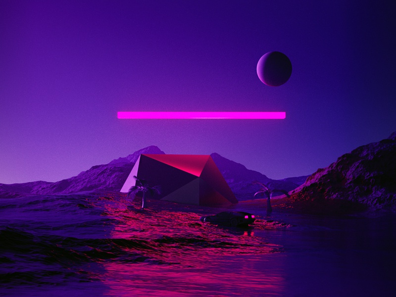 –Found Delorean poster spaceart interstellar film cinema4d c4d octane octanerender octane render art scifi fantasy surreal abstract 2019 80s delorean delorean 80s