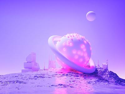 –Reach City. poster spaceart interstellar film cinema4d c4d octane octanerender octane render art scifi fantasy surreal abstract 2019 80s delorean delorean 80s