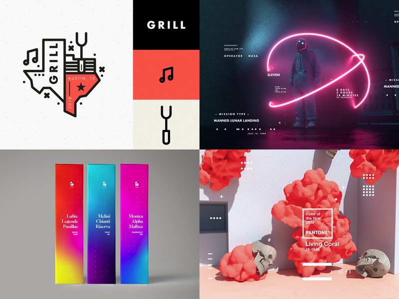 #Top4Shots on Dribbble from 2018 2018 dribbble minimal posterdesign retro art color vector texture swiss illustration poster type typography love