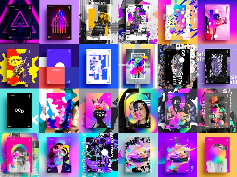 Show & Go   Month 1 Collection (2019) nike air max trainers nike love typography type poster illustration swiss texture vector color art retro posterdesign gradient collage photoshop adobe collageart