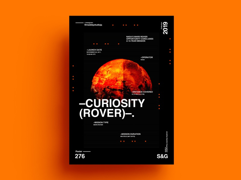Curiosity Rover. science space exploration space art posterdesign poster nasa exploration planet mars curiosityrover space