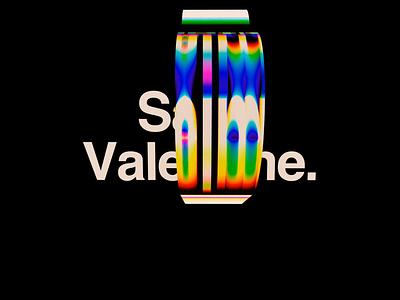 Saint Valentine. valentine branding motion animation satisfyingvideo satisfying 2019 abstract surreal art octane render octanerender octane c4d cinema4d poster helvetica