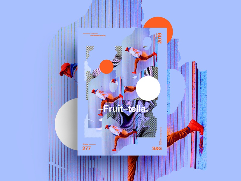 –Fruit-tella. sweets collageart adobe photoshop collage gradient posterdesign retro art color vector texture swiss illustration poster type typography love