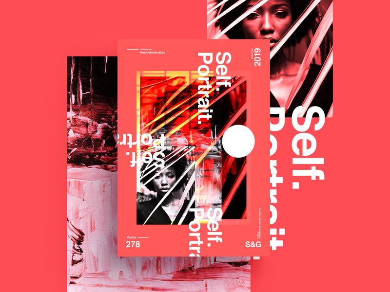 S&Go.278.Self Portrait. love typography type poster illustration swiss texture vector color art retro posterdesign gradient collage photoshop adobe collageart