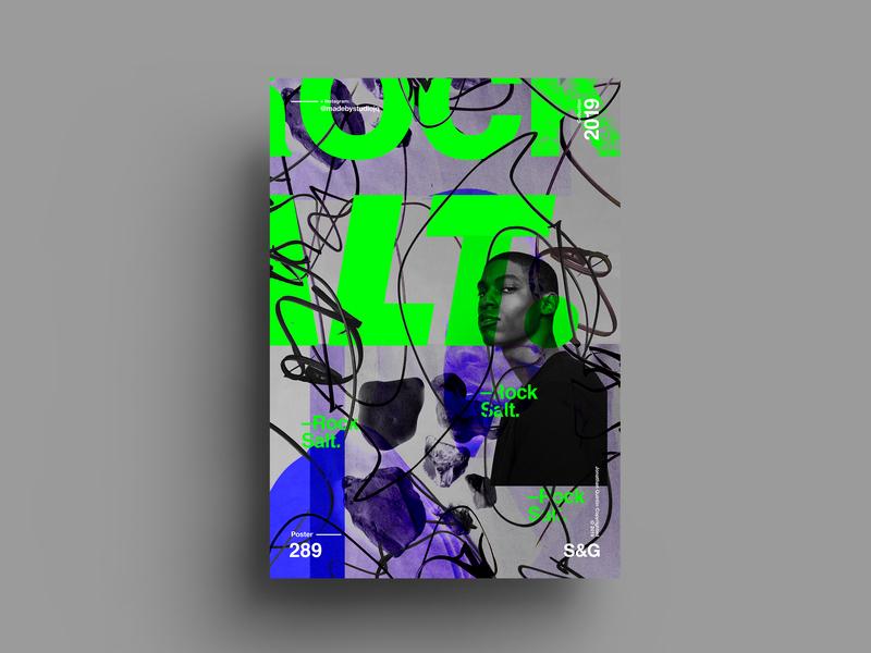 Rock Salt. love typography type poster illustration swiss texture vector color art retro posterdesign gradient collage photoshop adobe collageart