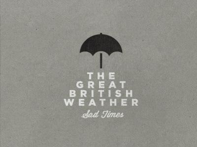 Sad Times texture logo umbrella