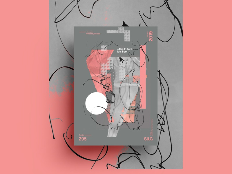 S&Go.295. The Future. My Boo. daughter daddy collageart adobe photoshop collage gradient posterdesign retro art color vector texture swiss illustration poster type typography love