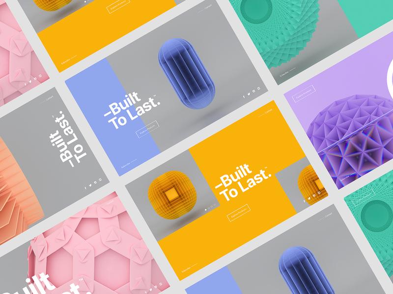 –Built To Last™ | Layout Explorations ux logo webdesign website web uidesign ui concept minimal typography interaction clean branding packaging type landingpage ui
