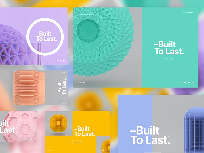 –Built To Last™ | Layout Explorations ui landingpage type packaging branding clean interaction typography minimal ui concept uidesign web website webdesign logo ux