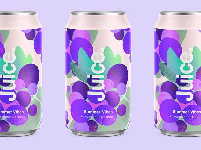Juice. | Blackcurrent Burst. blackberry purple branding color typography packaging logo cans pattern summer can drinks illustration sketch package