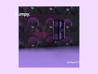 36 Days OF Type | H | Humpy. motiondesign motion c4d octane purple 36daysoftype-h 36daysoftype 36daysoftype06 cinema4d logo color font creative 2019