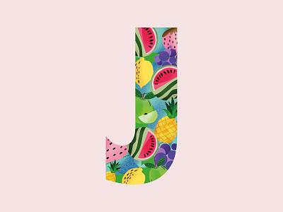 36 Days OF Type | j | Juicy. procreate juicy 36daysoftype-j purple 36daysoftype 36daysoftype06 logo color creative 2019 vector pattern imagination grid