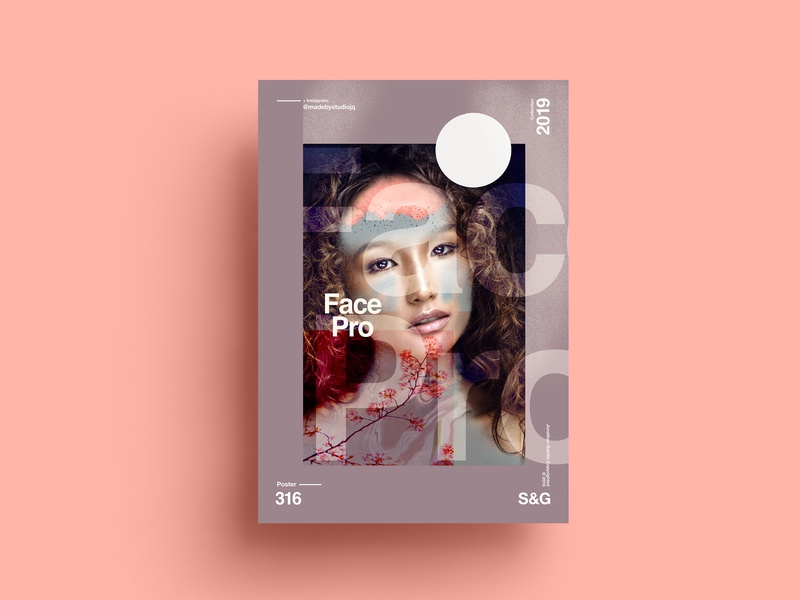 S&G.316.FacePro. love typography type poster illustration swiss texture vector color art retro posterdesign gradient collage photoshop adobe collageart summer