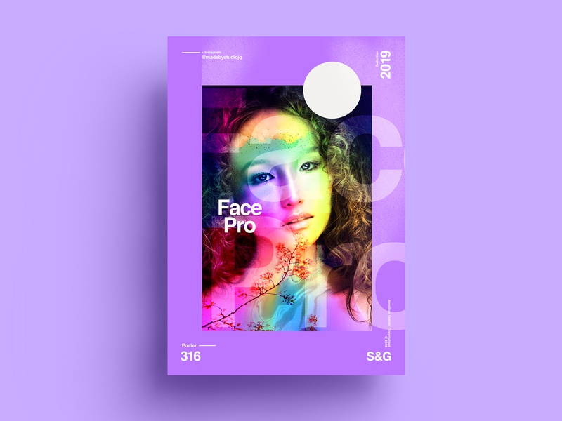 S&G.316.FacePro. summer collageart adobe photoshop collage gradient posterdesign retro art color vector texture swiss illustration poster type typography love