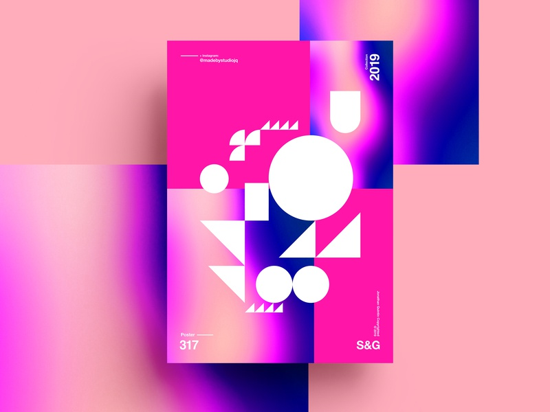 S&G.317.Shapes love typography type poster illustration swiss texture vector color art retro posterdesign gradient collage photoshop adobe collageart summer