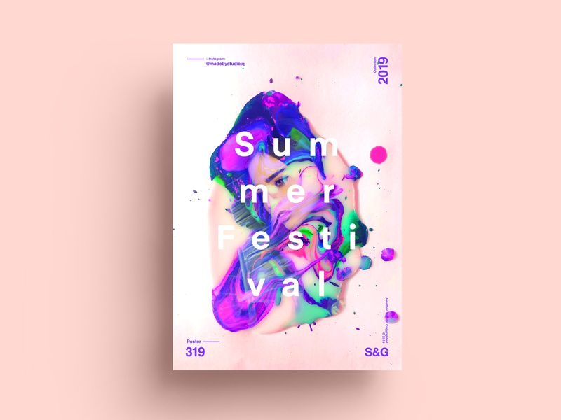 S&G. 319. Summer Festival. procreate paint painting love typography type poster illustration swiss texture color art retro posterdesign gradient collage photoshop adobe collageart summer