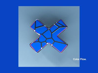 Color Flow. iridescent motiondesign motion animation 36daysoftype 36daysoftype06 logo color creative 2019 pattern imagination cinema 4d cinema4d octane art holographic 36daysoftype-x