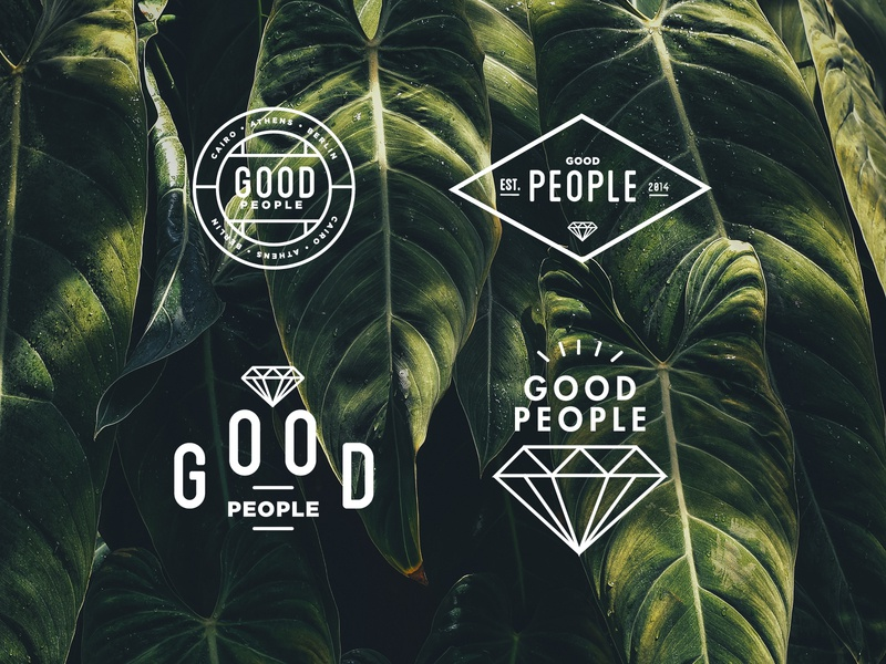 Good People nature illustration logomark layout collageart art vector poster type typography logo branding ipadpro2018 procreate logos sketch ideas concepts