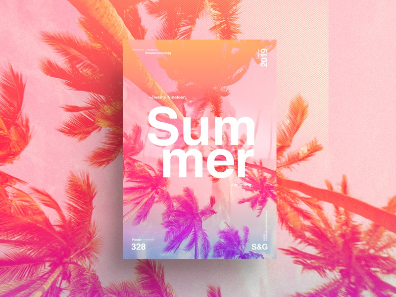 S&G. 328. Summer Incoming. love typography type poster illustration swiss texture vector color art retro posterdesign gradient collage photoshop adobe collageart summer