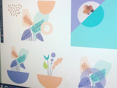 Illustration branding color typography packaging logo cans pattern summer illustration sketch package ui web landingpage